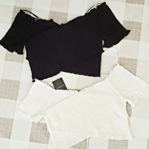 Forever21 - Two Smocked Crop Tops NWT
